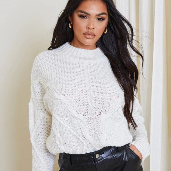 damsky biely sveter