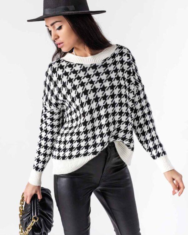 damsky bielo-cierny sveter