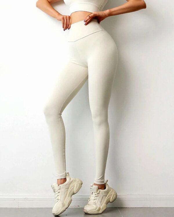 damske leginy biele