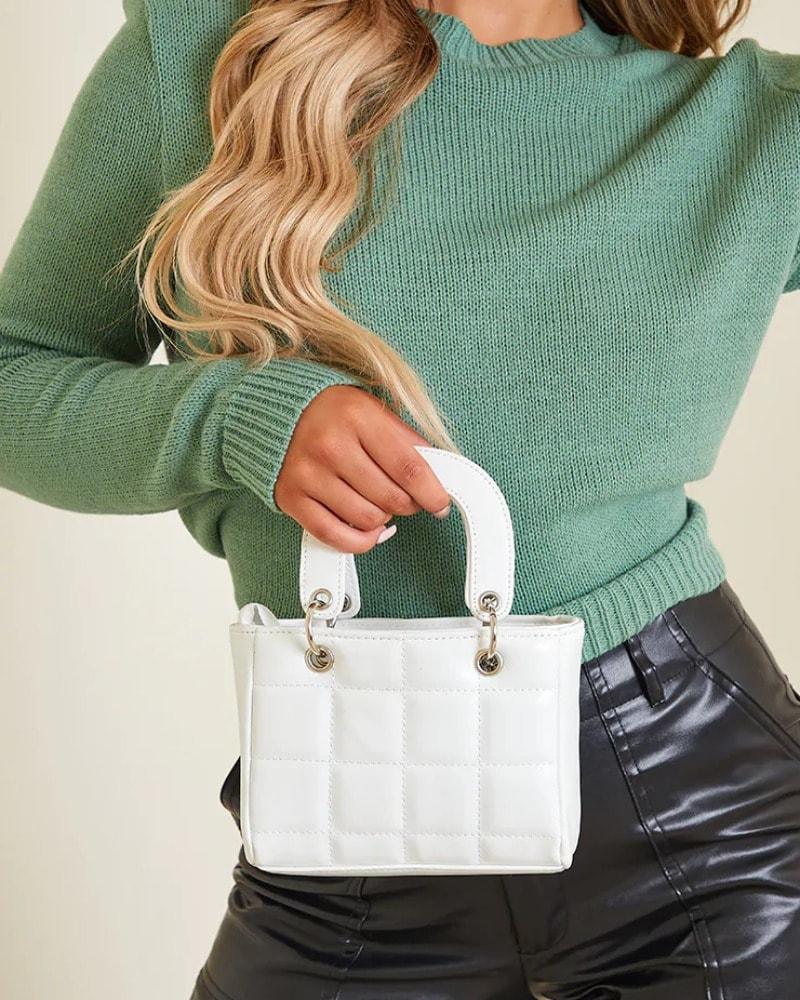 biela mini kabelka