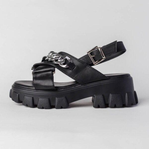 damske cierne sandalky