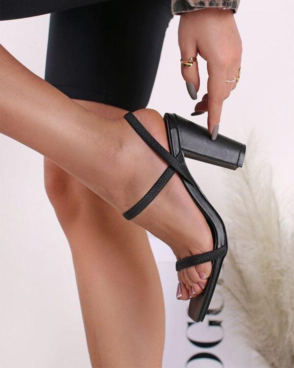 damske sandale cierne