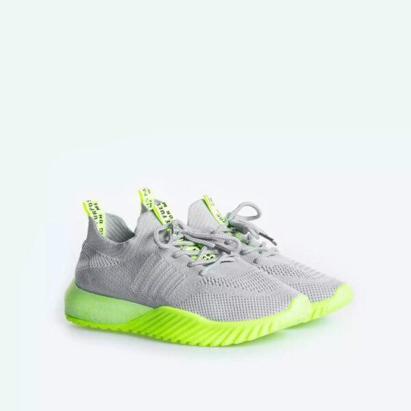 damske sivo-neonove tenisky