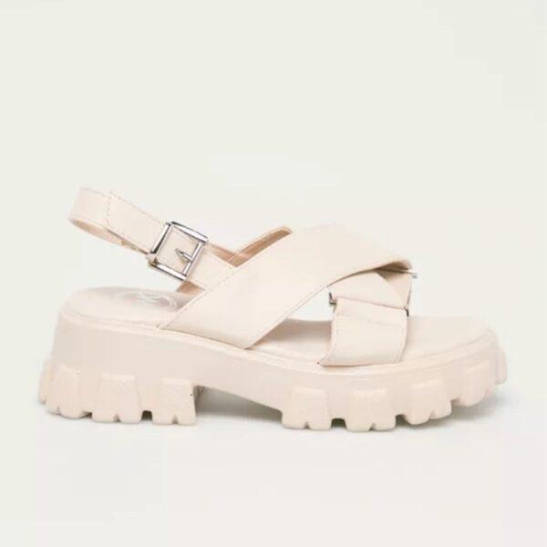 damske kremove sandale