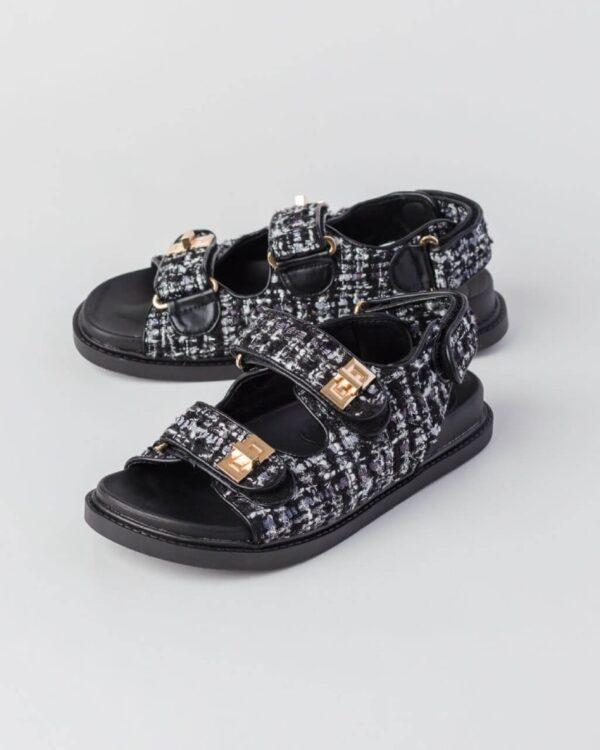 cierne nizke sandale