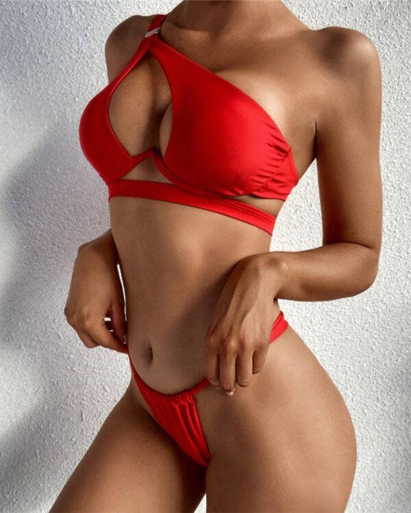 Dvojdielne červené plavky Liven 1
