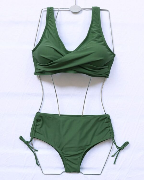 dvojdielne zelene plavky