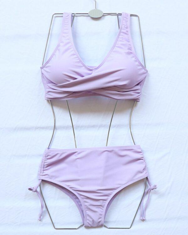 dvojdielne fialove plavky
