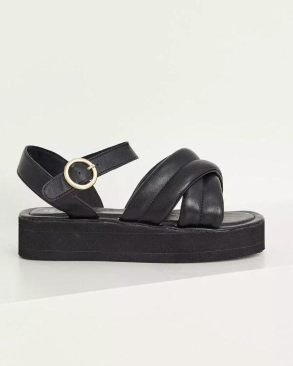 kozene cierne sandale