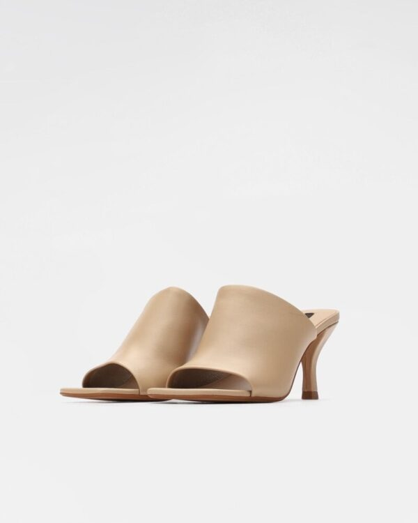 bezove vysoke sandale