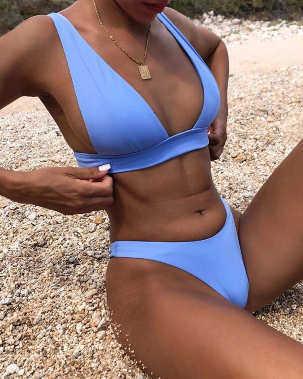 brazilske plavky modra