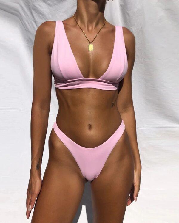 brazilske plavky ruzova