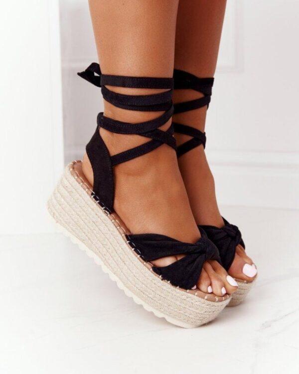 damske sandale na snurovanie