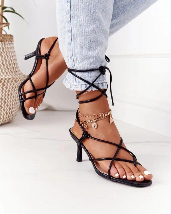 damske cierne sandale