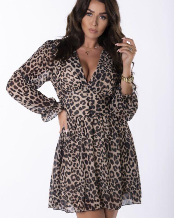 leopardie kratke saty